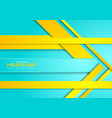 bright cyan and yellow abstract corporate brochure vector image vector image