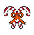 candy cane christmas related icon image vector image