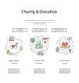 Charity and donation set vector image vector image