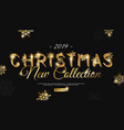 christmas 2019 new collection banner template for vector image vector image