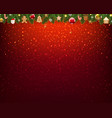 christmas border xmas postcard red glitter vector image vector image