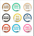 collection colorful promo stickers and badges vector image