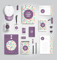 corporate identity print template vector image