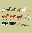 Cute Cartoon Farm Characters vector image vector image
