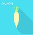 daikon icon flat style vector image vector image