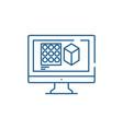 design designing line icon concept design vector image vector image