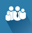 family people together icon vector image vector image