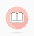 fine flat icon with book vector image vector image
