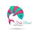 fish logo design abstract icon Creative vector image vector image