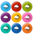 Forecast icons vector image
