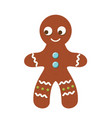 gingerbread man christmas cookie new year bakery vector image vector image