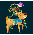 happy smiling reindeer on eve new year and vector image