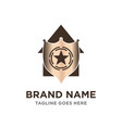 home shield logo vector image vector image