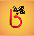 honey bee symbol vector image vector image