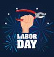 labor day poster festival national celebration vector image vector image