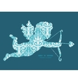 light blue swirls damask shooting cupid vector image