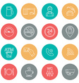 Line gas station icons Service icons vector image vector image