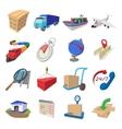 Logistics cartoon icons vector image vector image