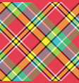 madras bright color check plaid seamless fabric vector image vector image