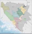 map of bosnia and herzegovina vector image