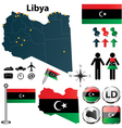 Map of Libya vector image vector image