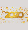 merry christmas and happy new year 2020 banner vector image