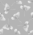 monochrome floral texture decorative leaves vector image vector image