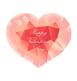 Pastel Pink Origami Heart vector image