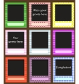 photo frame set for scrapbook vector image vector image