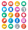 Photography flat color icons vector image vector image