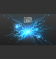 plasma light electric power energy effect vector image