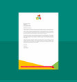 playful geometric letterhead design vector image