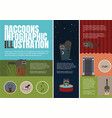 raccoons problems of livelihoods of vector image vector image