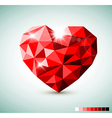 Red Diamond jewel heart vector image