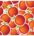 Red peaches seamless background vector image vector image
