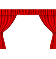 red stage curtains vector image vector image