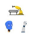 robot and factory symbol vector image vector image