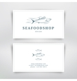 Seafood card vector image