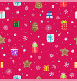 seamless pattern different winter holiday vector image vector image