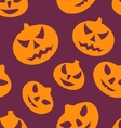 Seamless Texture with Carving Pumpkins vector image vector image