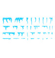 set of icicles isolated on white background vector image vector image