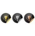 sport trophy icons for the first place second vector image vector image