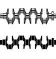 steel motor crankshaft vector image vector image