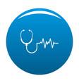 stethoscope icon blue vector image