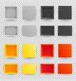 top view paper open box set realistic vector image vector image