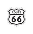 travel usa sign route 66 label american road icon vector image vector image