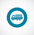 truck icon bold blue circle border vector image