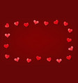 valentines day greeting frame template for a text vector image