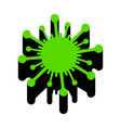 virus sign green 3d icon vector image vector image