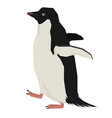 walking penguin geometric style isolated object vector image vector image